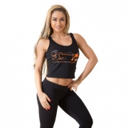 Gorilla Wear Oakland Crop Tank Black/Orange