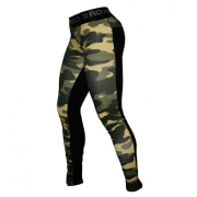 NEBBIA Camo 2-Color Tights Green Camo/Black