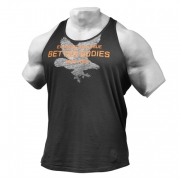 Better Bodies Front Printed T-back Wash Black