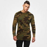 Better Bodies Bronx Long Sleeve Military Camo