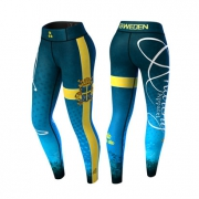 Anarchy Apparel Sweden Nation Legging 2.0 Blue/yellow
