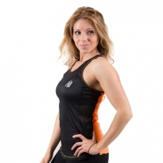Gorilla Wear Marianna Tank Top Black/Neon Orange