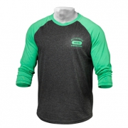 Better Bodies Mens Baseball Tee Green Antracite