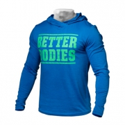 Better Bodies Mens Soft Hoodie Bright Blue