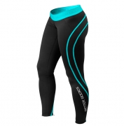 Better Bodies Women's Athlete Tights, black/aqua