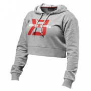 Better Bodies Cropped Hoodie Greymelange