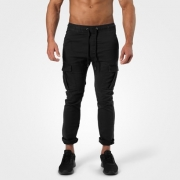 Better Bodies Harlem Cargo Pants Wash Black