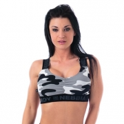 NEBBIA Camo Top Grey Camo