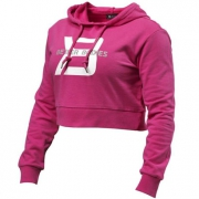 Better Bodies Cropped Hoodie Hot Pink