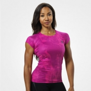 Better Bodies Performance Cut Tee Pink Print
