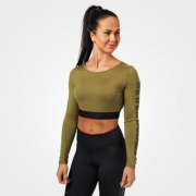 Better Bodies Chelsea Cropped L/S Military Green