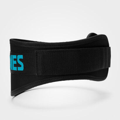Better Bodies Womens Gym Belt Black/aqua