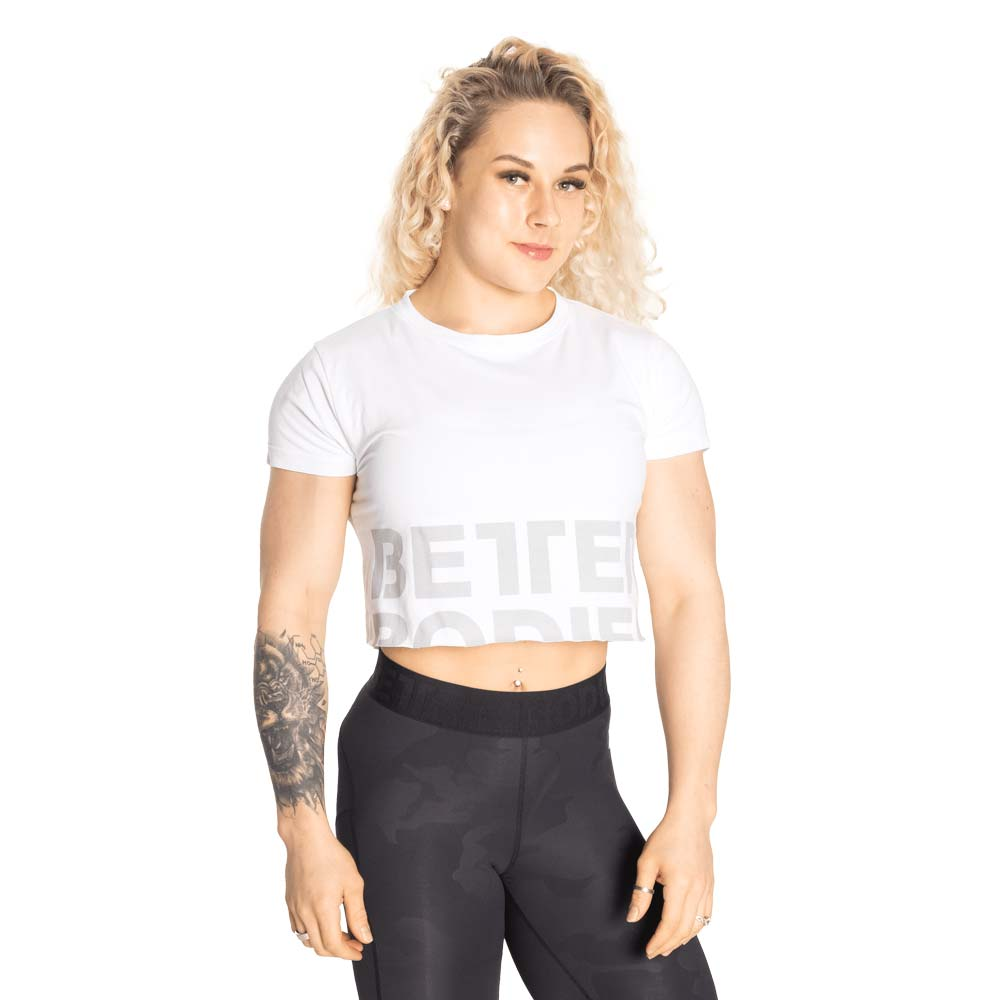Better Bodies Astoria Cropped Tee, White