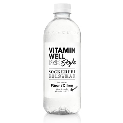 Vitamin Well Free Style Päron Citron, 450ml