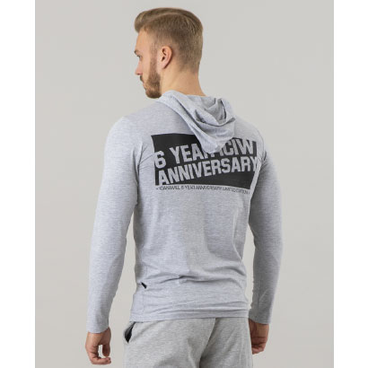 ICANIWILL Long Sleeve Hoodie V1, Heather Grey