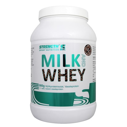Strength Milk and Whey 900g