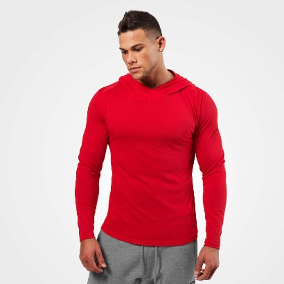 Better Bodies Mens Soft Hoodie Bright Red