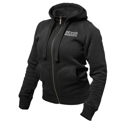 Better Bodies Fitted Soft Hoodie, black