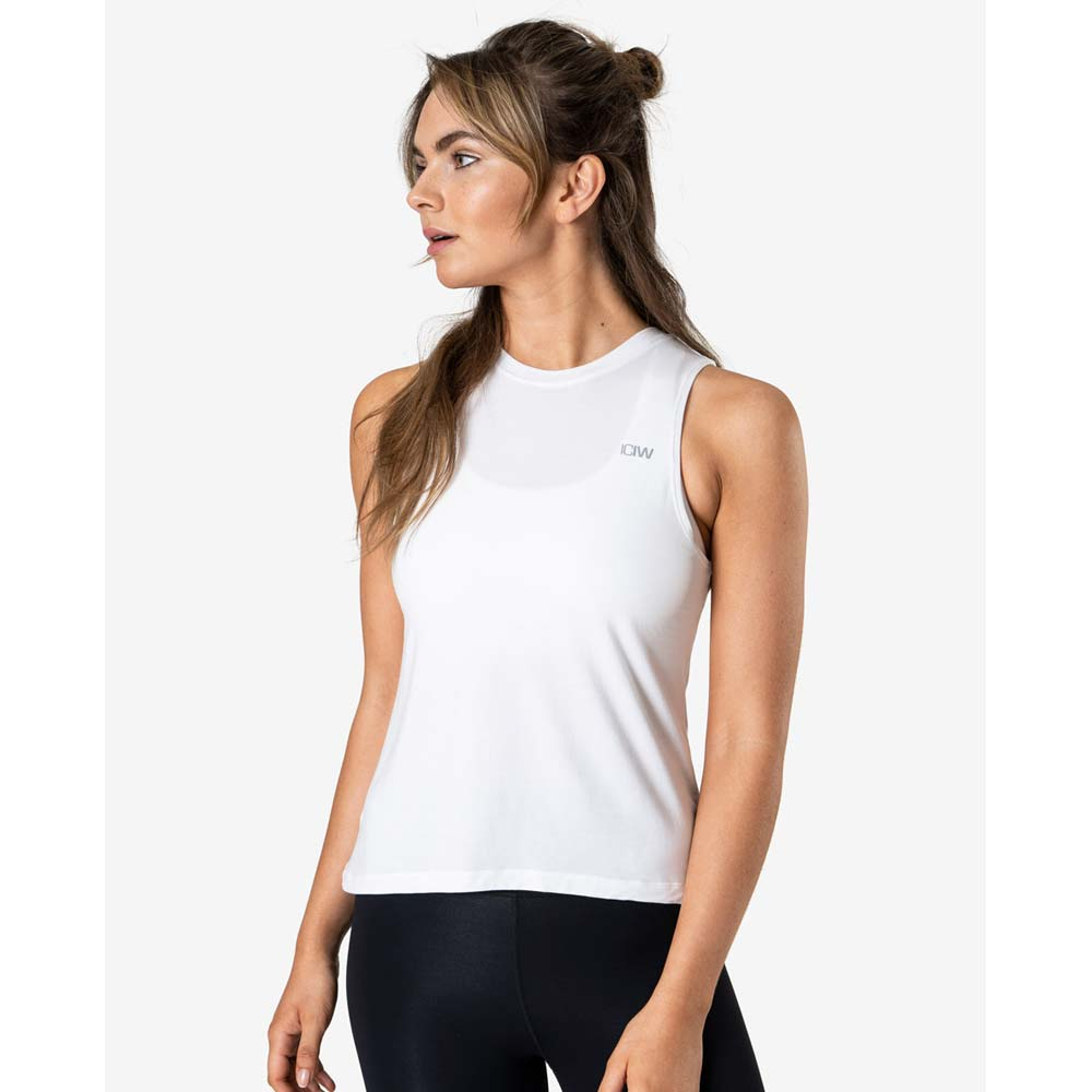 Icaniwill Everyday Loose Tank Top, White, L