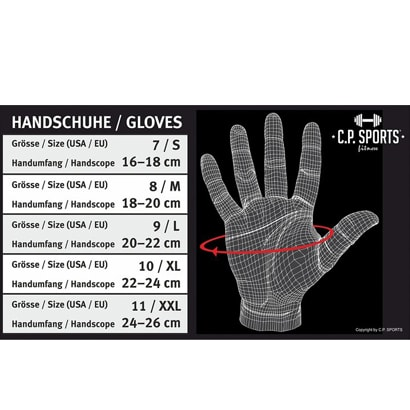 C.P. Sports Iron Glove Comfort Black