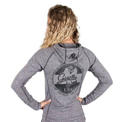 Gorilla Wear Shawnee Zipped Hoodie Mixed Grey