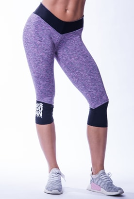 NEBBIA High Waist 3/4 Tights Purple