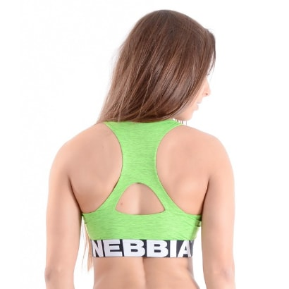 NEBBIA Melange Top, Green