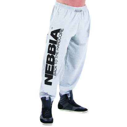 NEBBIA Hardcore Fitness Sweatpants, Grey