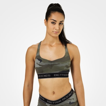 Better Bodies Athlete Short Top, Green Camoprint