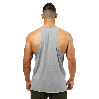 Better Bodies Team BB Raw Cut Tank Greymelange