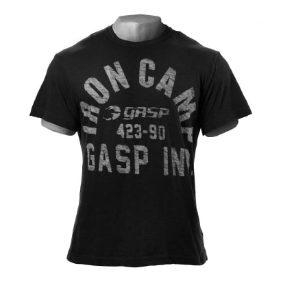 Gasp Mens Tees Throwback Slub Tee Black