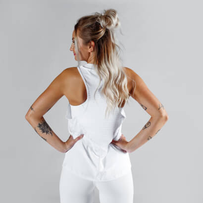 Workout Empire Regalia Loose Tank Pearl White