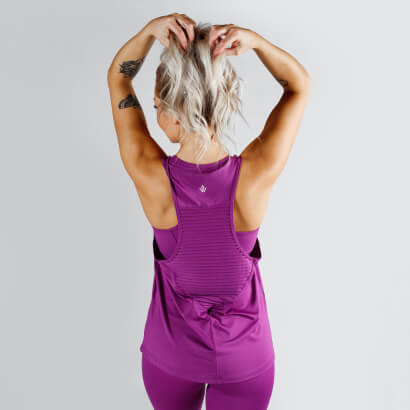 Workout Empire Regalia Loose Tank Plum Purple