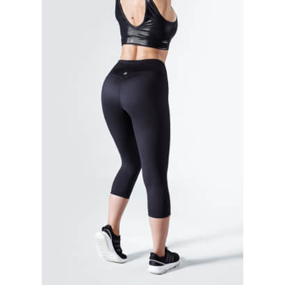 Workout Empire Regalia Curve 3/4 Leggings Obsidian Black