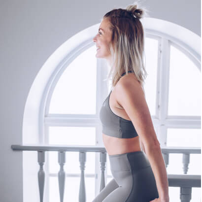 Workout Empire Strappy Bra Silver Grey