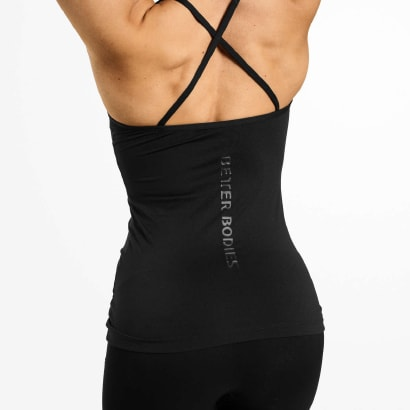 Better Bodies Waverly Strap Top Black
