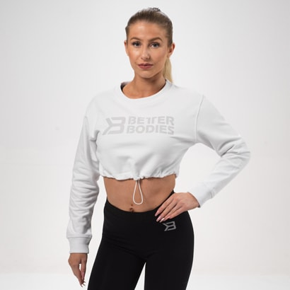Better Bodies Madison Cropped Ls White
