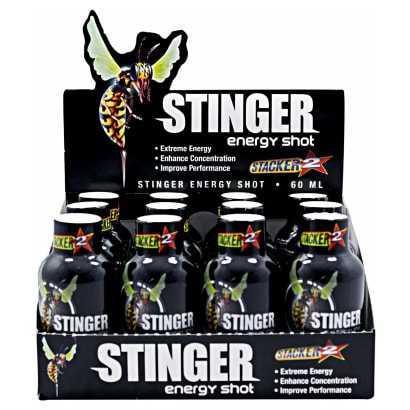 12 x Stacker2 Stinger Energy Shot 60ml