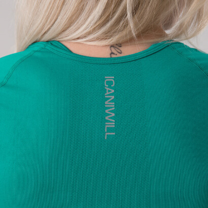 ICANIWILL Define Seamless L/S Crop Top Fanfare