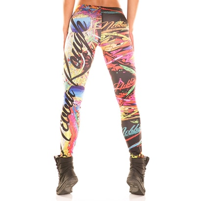 NEBBIA Graffiti Tights Rainbow