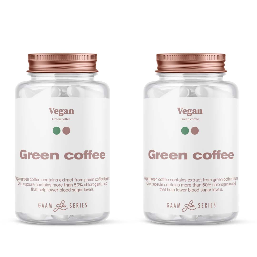 Gaam Life Series Vegan Green Coffee, 120 Caps