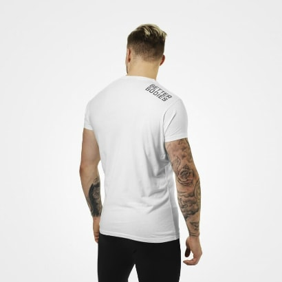 Better Bodies Basic Logo Tee, white