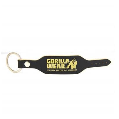 Gorilla Wear GW Keychain, Black/Gold