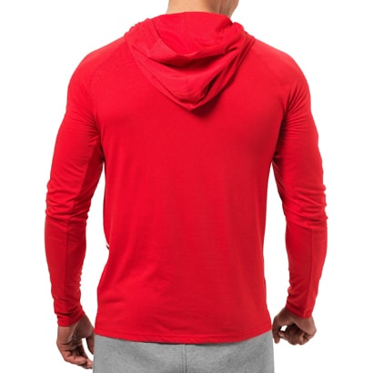 1d438503575 Better Bodies Astor LS Hoodie Bright Red - Proteinbolaget.se