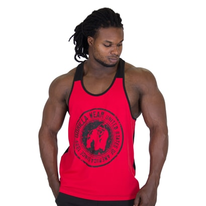 Gorilla Wear Roswell Tank Top, Red/Black
