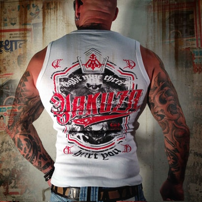 Yakuza Hurt You Tanktop White