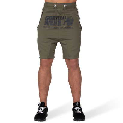 Gorilla Wear Alabama Drop Crotch Shorts, Army Green
