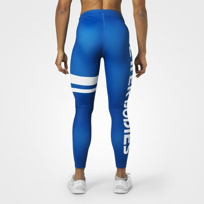 Better Bodies Varsity Stripe Tights Strong Blue