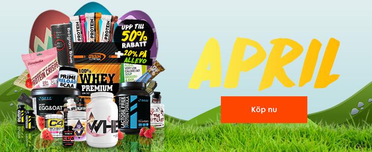 Spana in våra oslagbara April kampanjer på kosttillskott och träningskläder!
