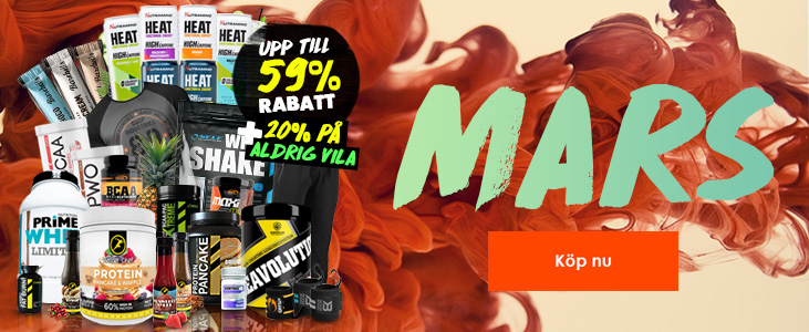 Spana in våra oslagbara Mars kampanjer på kosttillskott och träningskläder!